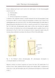 Thin Layer Chromatography Lab Report Docsity