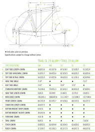 Cannondale Trail 5 Size Chart Trail 29er 5