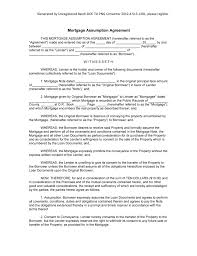 Mortgage Agreement Template Sample Mortgage Assumption Agreement form Blank Mortgage Assumption 1