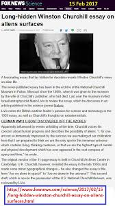 "lost"" winston churchill essay on aliens discovered socio  an error occurred"