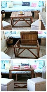 ana white coffee table converts to