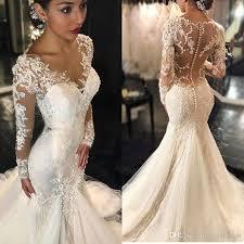vintage 2017 lace mermaid wedding dresses long sleeves appliques