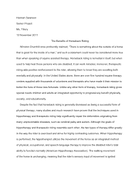 hannah s senior project research paper hannah swansonsenior projectms tillery13 2011 the benefits