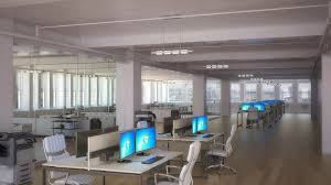 large office space. Bobby Parker New York Office Rendering Large Space .