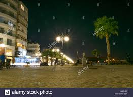Special Lights Larnaca Larnaca Promenade At Night City Lights Stock Photo