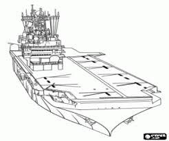 Kleurplaat Vliegdekschip Marine Schip Kleurplaten
