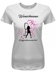Junggesellinnenabschied Sektglas Wunschname Damen T Shirt