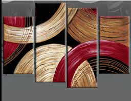 circles gold beige and red abstract wall art black canvas wall art picture 4 panel oil  on grey red wall art with wall art best ideas red abstract wall art red and white art black