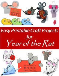 Printable Year Of The Rat Craft Projects For The Chinese New