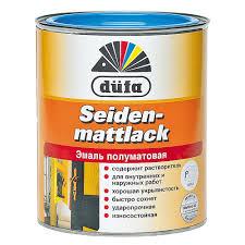 <b>Эмаль</b> полуматовая <b>Dufa</b> Siedenmattlack белая 0,75 л купить ...