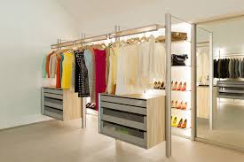 high end walk in closet system