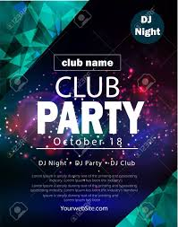 Party Flyer Poster Futuristic Club Flyer Design Template