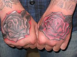 Cliserpudo Black And Red Rose Tattoo For Men Images
