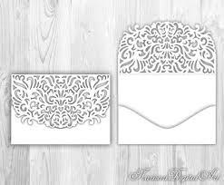 Wedding Invitation Pocket Envelope 5x7 Cricut Silhouette Cameo