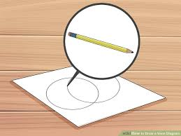 Drawing A Venn Diagram How To Draw A Venn Diagram With Pictures Wikihow
