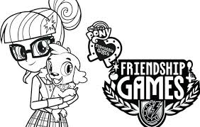 Game Coloring Pages My Little Pony Girls Friendship Games Coloring