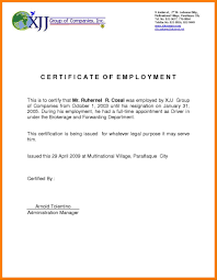 Employers Certificate Sample Meltemplates