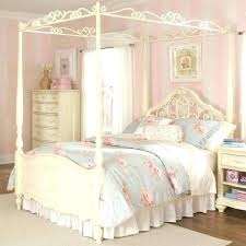 Full Size Canopy Bed Frame White. Full Size Canopy Bed Frame With ...