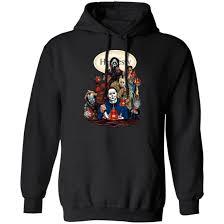 Bud Light Hooded Sweatshirt Horror Characters Drink Hennessy Shirt Hoodie Long Sleeve