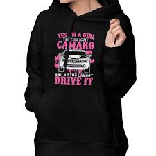 Womens Hoodie Yes This Is My Camaro Pullover Tops With Front Pocket
