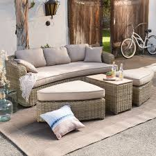 Coral Coast Albena All Weather Wicker Curved Sofa Sectional