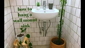how to install a wall mount sink and plumb it too