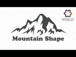 Mountain Shape Logo Design Tutorial How To Create A Simple Logo In