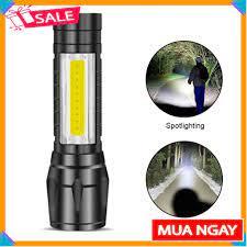 Đèn Pin Sạc Mini Siêu Sáng Có Zoom XPE+COB Light
