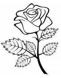 Disegno Di Rosa Da Colorare Per Bambini Disegnidacolorareonlinecom