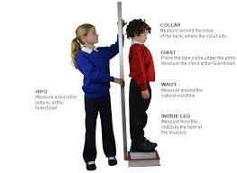 12 13y Size Chart Clothing Size Guide Your School Uniform Com