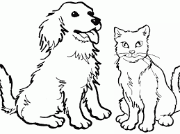 Small Picture Colouring Pages Dog And Cat Coloring Pages New On Interior Gallery