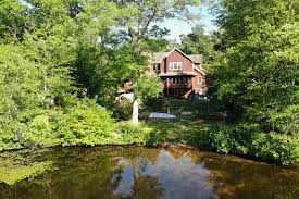 white heron lake house in the