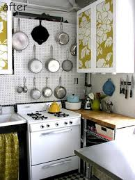 Small Kitchen Spaces Small Kitchen Spaces After Remodel With Storage Solutions Hanging