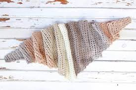 Free Caron Cakes Crochet Pattern Desert Winds Triangle Scarf