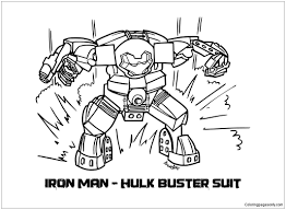 Color scheme was created by colorswall. Lego Iron Man Hulkbuster Coloring Pages Toys And Dolls Coloring Pages Free Printable Coloring Pages Online