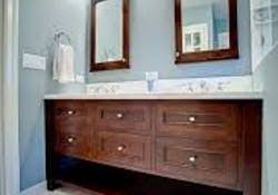 double vanity with one sink. (image credit: griffin custom) double vanity with one sink