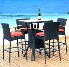 patio patio bar table high top patio table and chairs patio furniture high table bistro