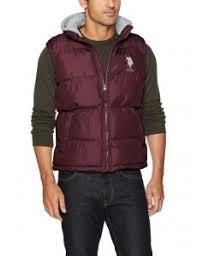 Us Tops Size Chart U S Polo Assn Mens Standard Puffer Vest East Burgundy
