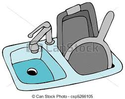 dishes in sink clipart. Exellent Dishes Kitchen Sink  Csp5266105 With Dishes In Clipart I