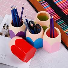 <b>1x Creative</b> Pen Pencil Pot Holder <b>Stationery</b> Desk Tidy Container ...