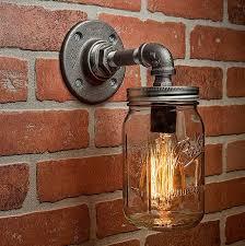 industrial bar lighting. Farmhouse Lighting - Mason Jar Light Steampunk Bar Industrial Chandelier Wall FREE SHIPPING