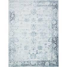 unique loom sofia light blue 9 x 12 rug