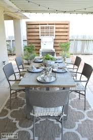 reclaimed wood outdoor dining table interior