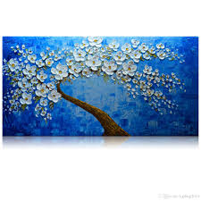 2018 kgtech palette knife flower artwork 3d acrylic painting handmade royal blue arts wall decor canvas large from kgshop2016 82 42 dhgate com on large 3d flower wall art with 2018 kgtech palette knife flower artwork 3d acrylic painting
