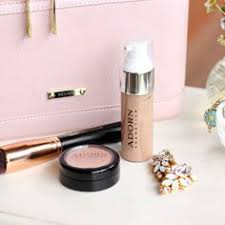 adorn liquid mineral foundation review megsy jane glamour naturally adorn cosmetics