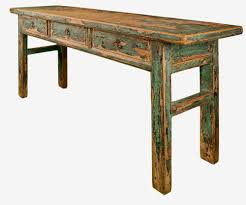 modern rustic wood furniture. Old Rustic Distressed Console Table With 3 Drawers Made From Reclaimed Wood For Small Spaces Ideas Modern Furniture T