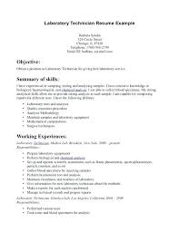 Dental Lab Technician Resume Format For Sample Medical Laboratory Amazing Lab Technician Resume