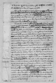 image of thomas jefferson rough draft of the image 1 of thomas jefferson 1776 rough draft of the declaration of independence library of congress