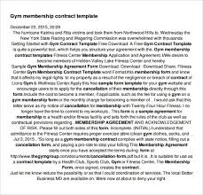 16 Gym Contract Templates Word Docs Pages Free Premium
