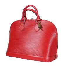 louis vuitton red epi alma handbag for